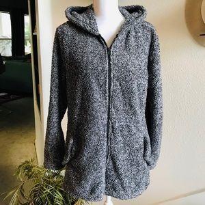 26 international gray Sherpa fleece hoodie jacket
